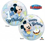 "22"" Disney 1st Mickey Bubble Balloon"