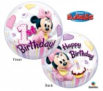 "22"" Disney 1st Minnie Bubble Balloon"