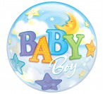 "22"" Baby Boy Bubble Balloon"