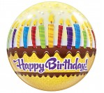 "22"" Happy Bday Candles Bubble Balloon"