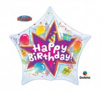 "22"" Happy Bday Star Shape Bubble Balloon"