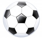 "22"" Soccer Ball Bubble Balloon"