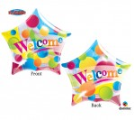"22"" Welcome Star Shape Bubble Balloon"
