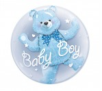 "24"" Baby Boy Bubble Balloon"