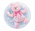 "24"" Baby Girl Bubble Balloon"