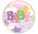 "22"" Baby Girl Bubble Balloon"
