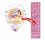 "18"" Disney Princess Heart Shape ""Personalized Name"" Foil Balloon"