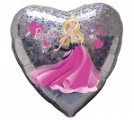 "18"" Barbie Holographic Heart Shape Foil Balloon"