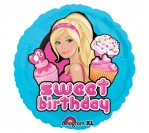 "18"" Barbie Sweet Birthday Foil Balloon"