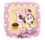 "18"" Minnie First Birthday Foil Balloon"