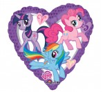 "18"" My Little Pony Heart Shape Foil Balloon"