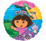 "18"" Dora The Explorer HBD Foil Balloon"