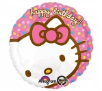 "18"" Hello Kitty HBD Dots"