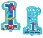 "28"" HBD 1st Boy Foil Balloon"