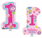 "28"" HBD 1st Girl Foil Balloon"