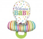"29"" Welcome Baby Pacifier Foil Balloon"