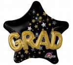 "36"" Graduation Star Foil Balloon"