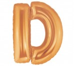 "40"" Gold D Letter Balloon"
