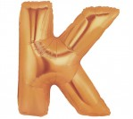 "40"" Gold K Letter Balloon"