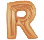 "40"" Gold R Letter Balloon"