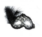 Black Feather Mask with Pattern