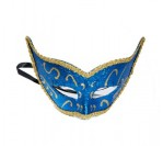 Blue Eye Mask with Glitter Painting