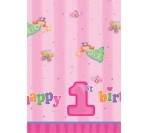 Fun@1Girl Plastic Tablecover 137cm X 254cm (1pc/pkt)