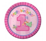 "Fun@1Girl 7"" Plates (8pcs/pkt)"