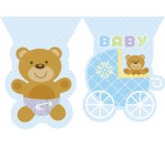 Teddy Bear Blue Flag Banner (3.6m)