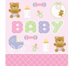 Teddy Bear Pink Plastic Table cover (137cm X 274cm)
