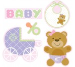Baby Shower Pink CutOut Asst (5 Assorted Cutouts)