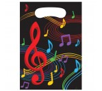 Dancing Music Notes Loot Bag 8pcs/pkt