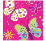 Butterfly Sparkle 3ply Napkins (16pcs/pkt)