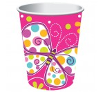 Butterfly Sparkle  9 Oz Hot/Cold Paper Cups (8pcs/pkt)
