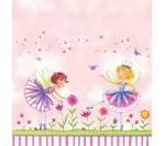 Garden Fairy Printed Plastic Table cover (137cm X 274cm)