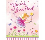 Garden Fairy Invitation Cards (8pcs/pkt)