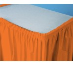 SunKiss Orange Premium Plastic TableSkirt (73.66cm x 4.26m)