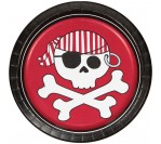 "Pirate Party 7"" Red Plates (8pcs/pkt)"