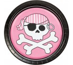 "Pirate Party 7"" Pink Plates (8pcs/pkt)"