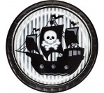 "Pirate Party 9"" Foil Plates (8pcs/pkt)"