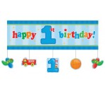 Fun@1Boy Giant Party Banner 152.4cm X 50.8cm