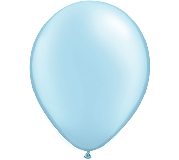 "12"" Metallic Light Blue Latex Balloons"