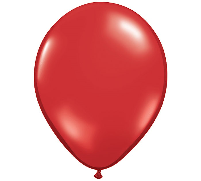 "12"" Metallic Red Latex Balloons"