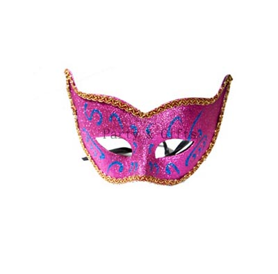 Purple Eye Mask with Glitter Painting