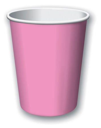 Candy Pink 9 Oz Hot and Cold Cups 24 pcs/pkt