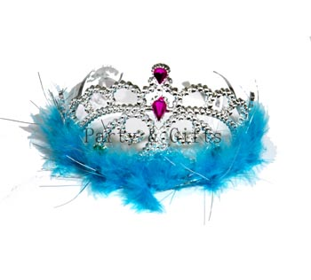 Tiara W Blue Feather-Star